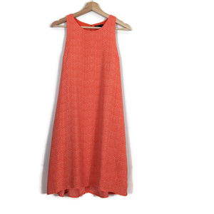 Gap Shift Swing Dress Dot Print Orange White